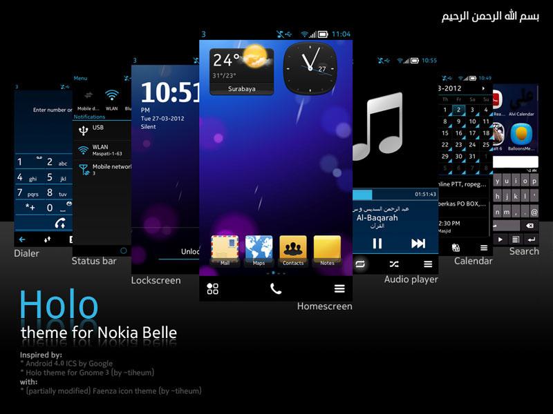 """Nokia Belle theme """"Holo"""" Promo1"""
