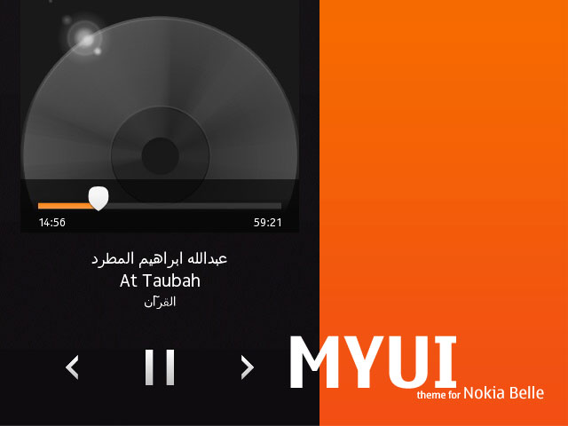 Download MYUI Theme for Nokia Belle here ...