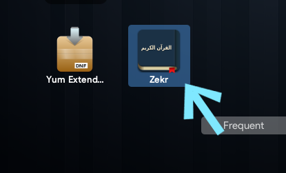 The shortcut shown in GNOME Application launcher.